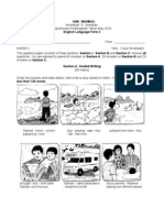 Exam Paper Peperiksaan Pertengahan Tahun  English Language Form 2.PAPER 2 with answer Tahun 2010