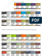 Word 2013 RGB and Hexadecimal Value Analysis