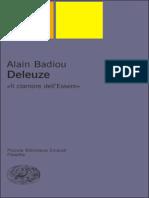 Alain Badiou - Deleuze. Il Clamore Dell%e2%80%99Essere (0)