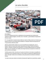 05/Octubre/2018 Plantean regularizar autos chocolate