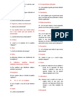 Cuestionario rapido de español nivel primaria y secundaria