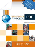 Boletín de Importaciones Agosto 2018