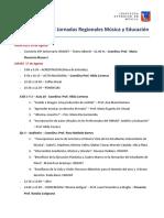 Cronograma de Jornadas Regionales de Musica y Educacion