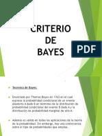 Criterio de Bayes