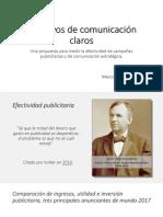Ponencia - Objetivos de Comunicación Claros