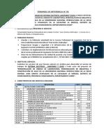 05 TERMINOS DE REFERENCIA N°005-SISTEMA ELECTRICO, SANITARIO Y DATA
