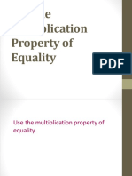 2.2 Multiplication Property of Equality