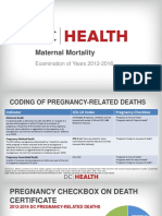 D.C. Health Maternal Deaths 2012-2016