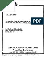 [Doi 10.2514%2F6.1994-2768] Fuller, E.; Smith, C. -- [American Institute of Aeronautics and Astronautics 30th Joint Propulsion Conference and Exhibit - Indianapolis,In,U.S.a. (27 J