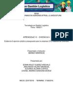 """Evidencia 6 - Ejercicio práctico """"Presupuestos para la empresa LPQ Maderas de Colombia"""".docx"""