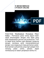Trick-trick Mendominasi Permainan Poker Online