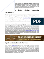 Daftar Akun Poker Online Indonesia Terpercaya