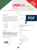 Solucionario Examen de Examision UNI 2014-2 de Fisica y Quimica