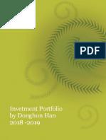 2018 Investment Plan & Progress by Donghun Han