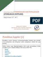 4. Pemilihan Supplier-1