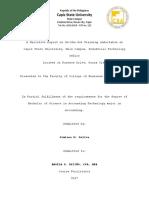 1st Pg. Narrative Report