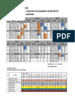 Jadwal Pelajaran Mts Revisi25jul18 (Autosaved)