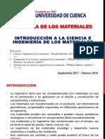 Capítulo 1 - Introducción a Las Ciencia de Los Materiales