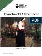 Instructivo del Alfabetizador, Mixe Oaxaca