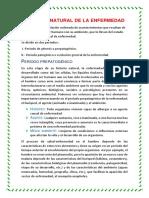 Historia Natural de La Enfermedad. Resumen