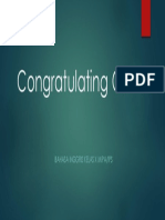 Congratulating Others