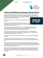 What is Developmental Language Disorder