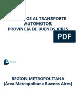 Subsidios Transporte Público Provincia de Bs As