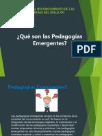 PEDAGOGIAS EMERGENTES