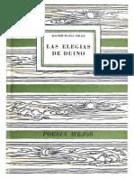 Elegías de Duino - Rainer María Rilke