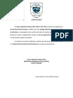 Certificado de Pago