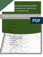 Plan de Diagnostico Ambiental. huanuco