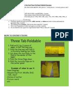 Three Tab Foldable ND