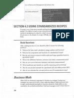 Using Standardize Recipes
