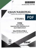 Naskah Soal UN Matematika TKP SMK 2015 Paket 1.pdf