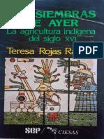 Las Siembras Del Ayer Teresa Rojas Rabiela