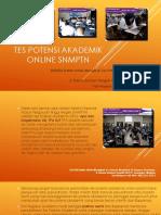 Tes Potensi Akademik Online SNMPTN / Fast Respon / 0822-3651-2343