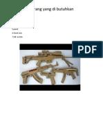 Pistol Kardus