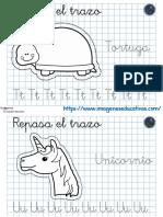 Fichas en Cuaderno Para Repasar Trazo y Preescritura Parte4