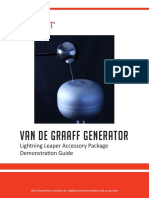 615 3149 Van de Graaff Lightning Leaper Package Demonstration Guide