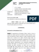 Orden de ubicación y captura para César Hinostroza