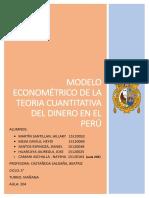 Econometria Teoria Cuantitativa Del Dinero