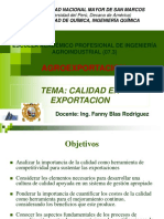 Gestion de Calidad en Exportacion