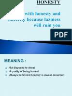Microsoft PowerPoint - HONESTY