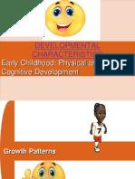 Developmental Characteristics