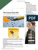 YDS Çalışma Planı 2016 – Sınavlar