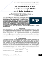 Simulation and Implementation of Pulse Compression Techniques using Ad6654 for Atmospheric Radar Applications
