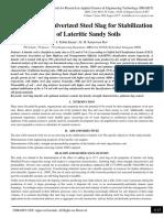 Utilization of Pulverized Steel Slag for Stabilization of Lateritic Sandy Soils