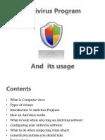 Antivirus Program & Its Usage