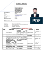 CV sample - Site Engineer - Muhammad Atiq Sayal