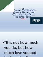 Basic Statisticsmid